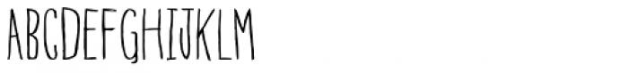 Blue Goblet Drawn Compressed Light Basic Font UPPERCASE