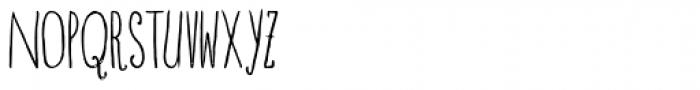 Blue Goblet Drawn Compressed Light Font UPPERCASE