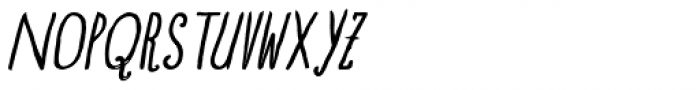 Blue Goblet Drawn Condensed Italic Font UPPERCASE