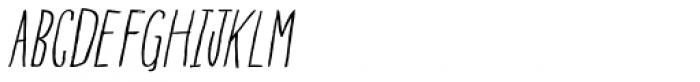 Blue Goblet Drawn Condensed Light Italic Font UPPERCASE