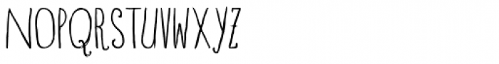 Blue Goblet Drawn Condensed Light Font UPPERCASE