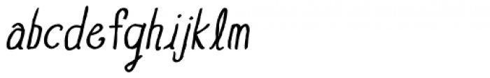 Blue Goblet Drawn Normal Italic Font LOWERCASE