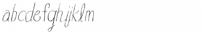 Blue Goblet Drawn Normal Thin Italic Font LOWERCASE