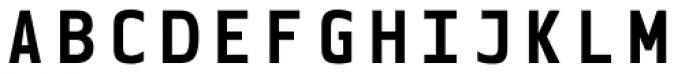 Blue Mono Bold Font UPPERCASE