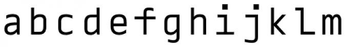 Blue Mono Font LOWERCASE