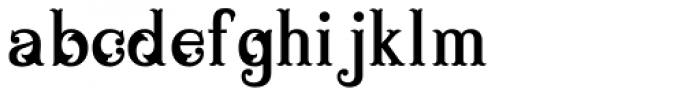 Blue Parrot JNL Font LOWERCASE