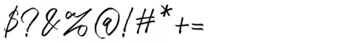 Bluehill Regular Font OTHER CHARS