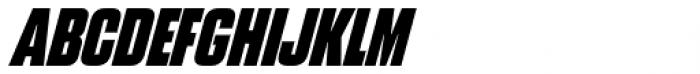 Blunt Condensed Italic Font UPPERCASE
