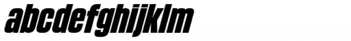 Blunt Condensed Italic Font LOWERCASE