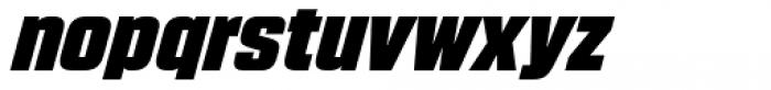 Blunt Semi Condensed Italic Font LOWERCASE