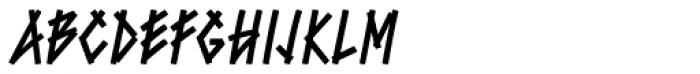 Bluntz Std Font LOWERCASE