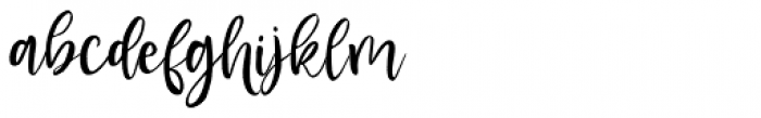 Blusher Script Regular Font LOWERCASE
