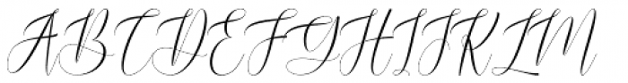 Blussafir Regular Font UPPERCASE