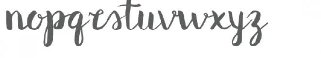 Blush regular Font LOWERCASE