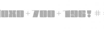 Blockletter Medium Font OTHER CHARS