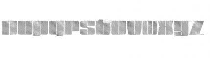 Blockletter Medium Font LOWERCASE
