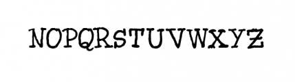 Blue Type (plain) Font UPPERCASE