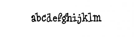 Blue Type (plain) Font LOWERCASE