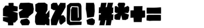 BMF Brohan Black Closed Font OTHER CHARS