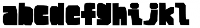 BMF Brohan Black Closed Font LOWERCASE