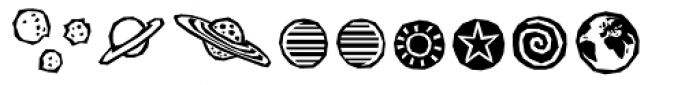 BMF Planets Pi Font UPPERCASE