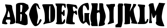 BN-FishEye Font UPPERCASE