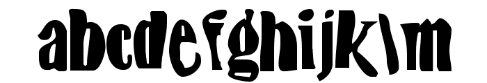 BN-FishEye Font LOWERCASE