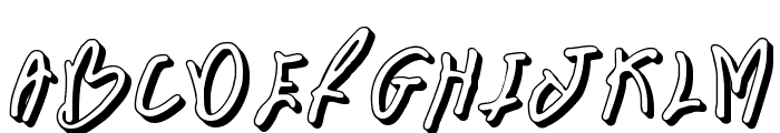 BN FontBoy 3D Font UPPERCASE