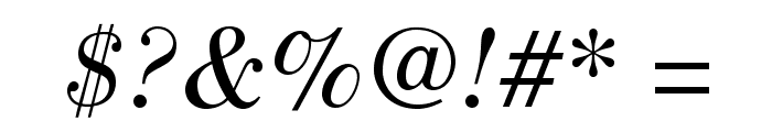 BodoniStd-BookItalic Font OTHER CHARS