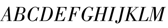 BodoniStd-BookItalic Font UPPERCASE