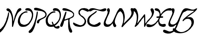 Boomerang     Italic Font UPPERCASE