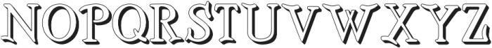 BOSTON-EXTRUDES Regular otf (400) Font UPPERCASE