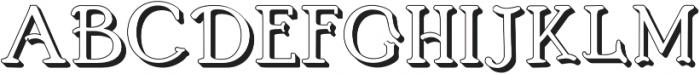 BOSTON-EXTRUDES Regular otf (400) Font LOWERCASE