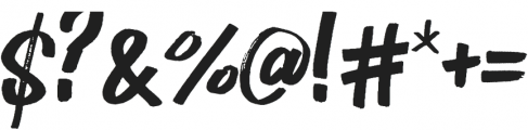 BOULDER Regular otf (400) Font OTHER CHARS