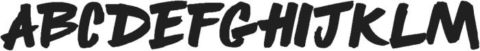 BOULDER Regular otf (400) Font UPPERCASE