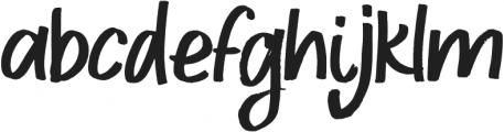 BOULDER Regular otf (400) Font LOWERCASE