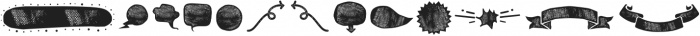BOWL Dingbat Two otf (400) Font UPPERCASE