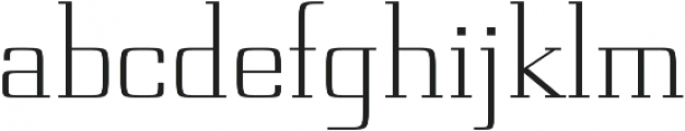 Board regular otf (400) Font LOWERCASE