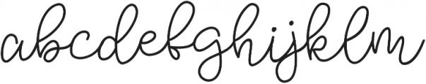 Bobbles Light otf (300) Font LOWERCASE
