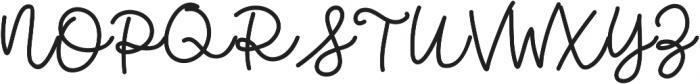 Bobbles Regular otf (400) Font UPPERCASE