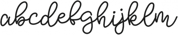 Bobbles Regular otf (400) Font LOWERCASE