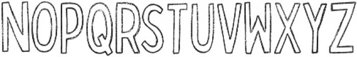 Bobby Rough Condensed Outline otf (400) Font UPPERCASE