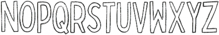 Bobby Rough Condensed Outline otf (400) Font LOWERCASE