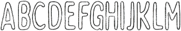 Bobby Rough Soft Condensed Outline otf (400) Font UPPERCASE