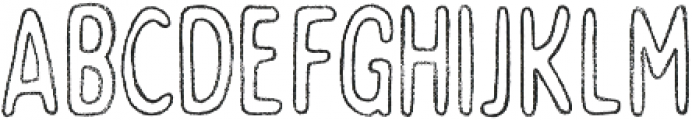 Bobby Rough Soft Condensed Outline otf (400) Font LOWERCASE