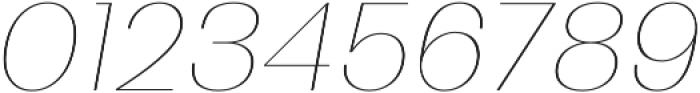 Bodrum Sans 10 Hair Italic otf (400) Font OTHER CHARS