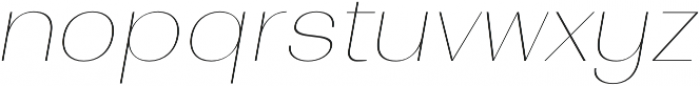 Bodrum Sans 10 Hair Italic otf (400) Font LOWERCASE
