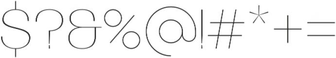 Bodrum Sans 10 Hair otf (400) Font OTHER CHARS