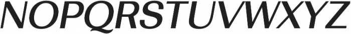 Bodrum Sans 15 Medium Italic otf (500) Font UPPERCASE