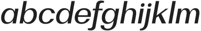 Bodrum Sans 15 Medium Italic otf (500) Font LOWERCASE